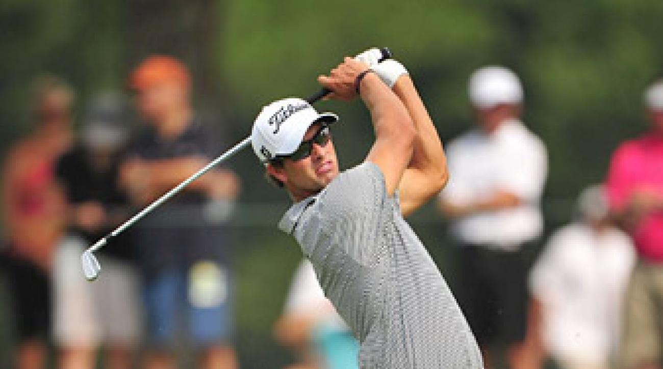 Adam Scott is making his 2012 season debut at the Northern Trust Open this week.
