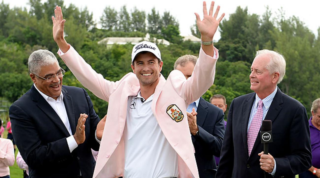 Adam Scott briefly held the lead on Sunday before making four bogeys on the back nine.