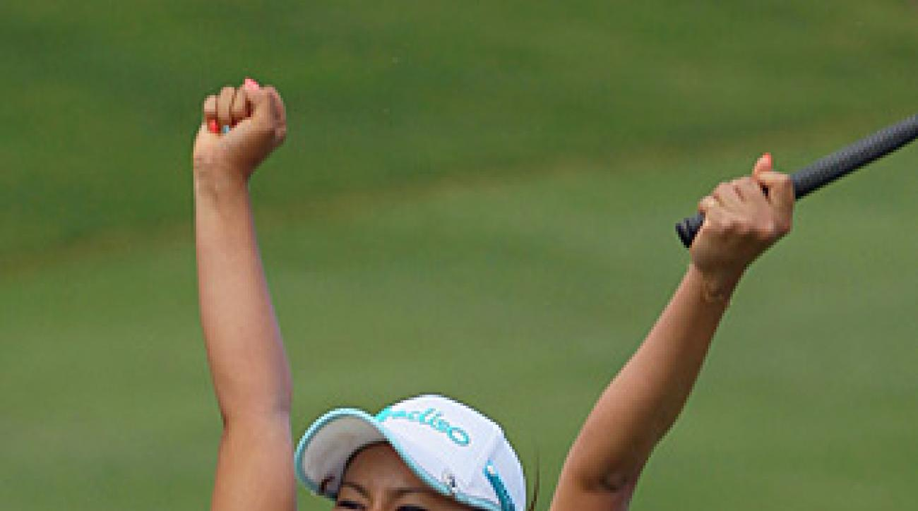 Ai Miyazato shot a two-under 70 to win by four.