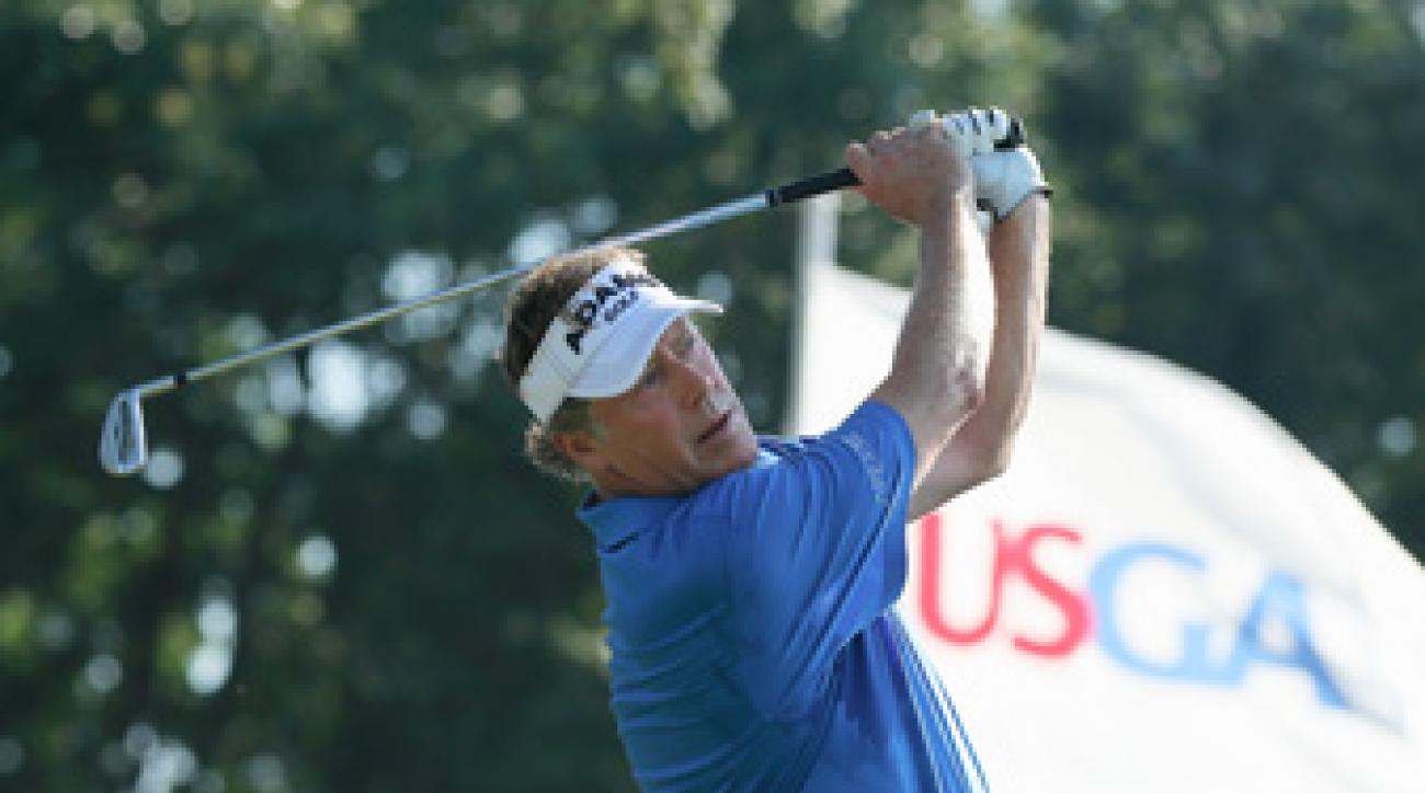 Michael Allen made six birdies, an eagle and a bogey on Friday.