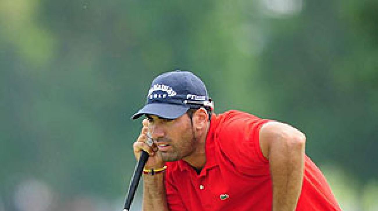 Alvaro Quiros shot a three-under 69.