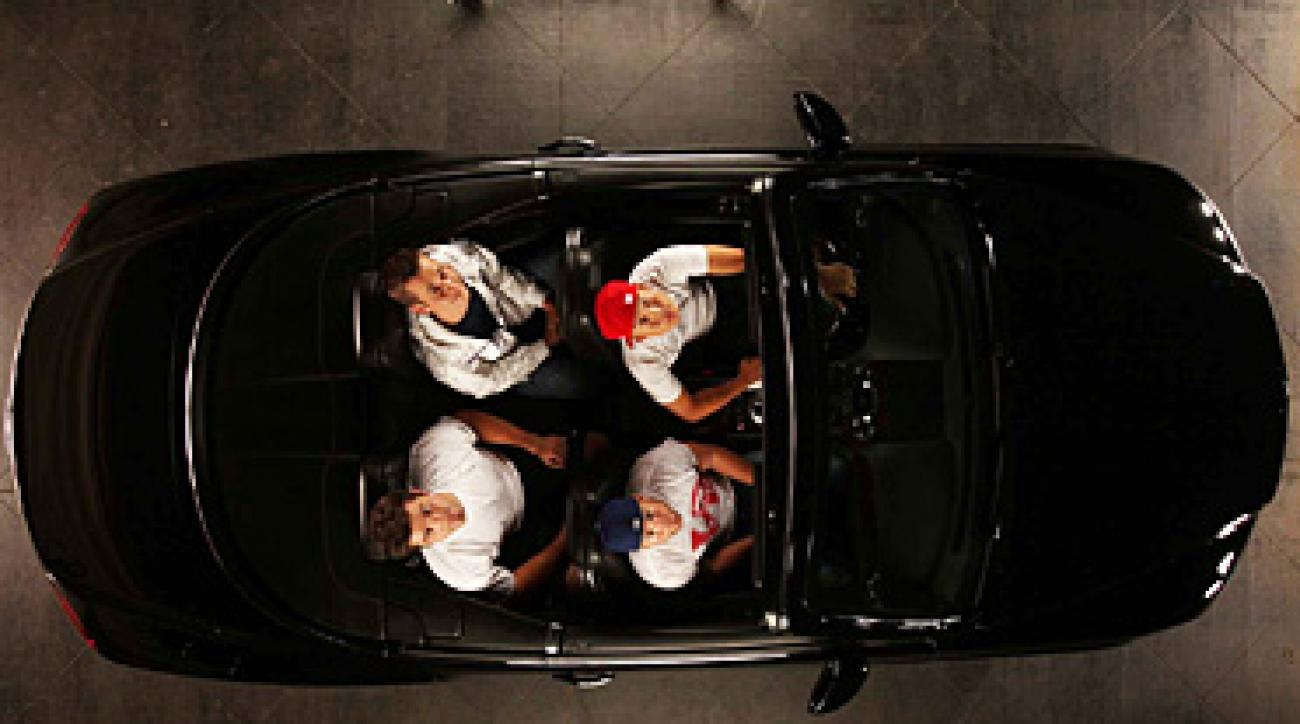 Anthony Kim (driving) and wingmen (clockwise) Brodie Flanders, Stephen Ferguson and Ryan Todey.