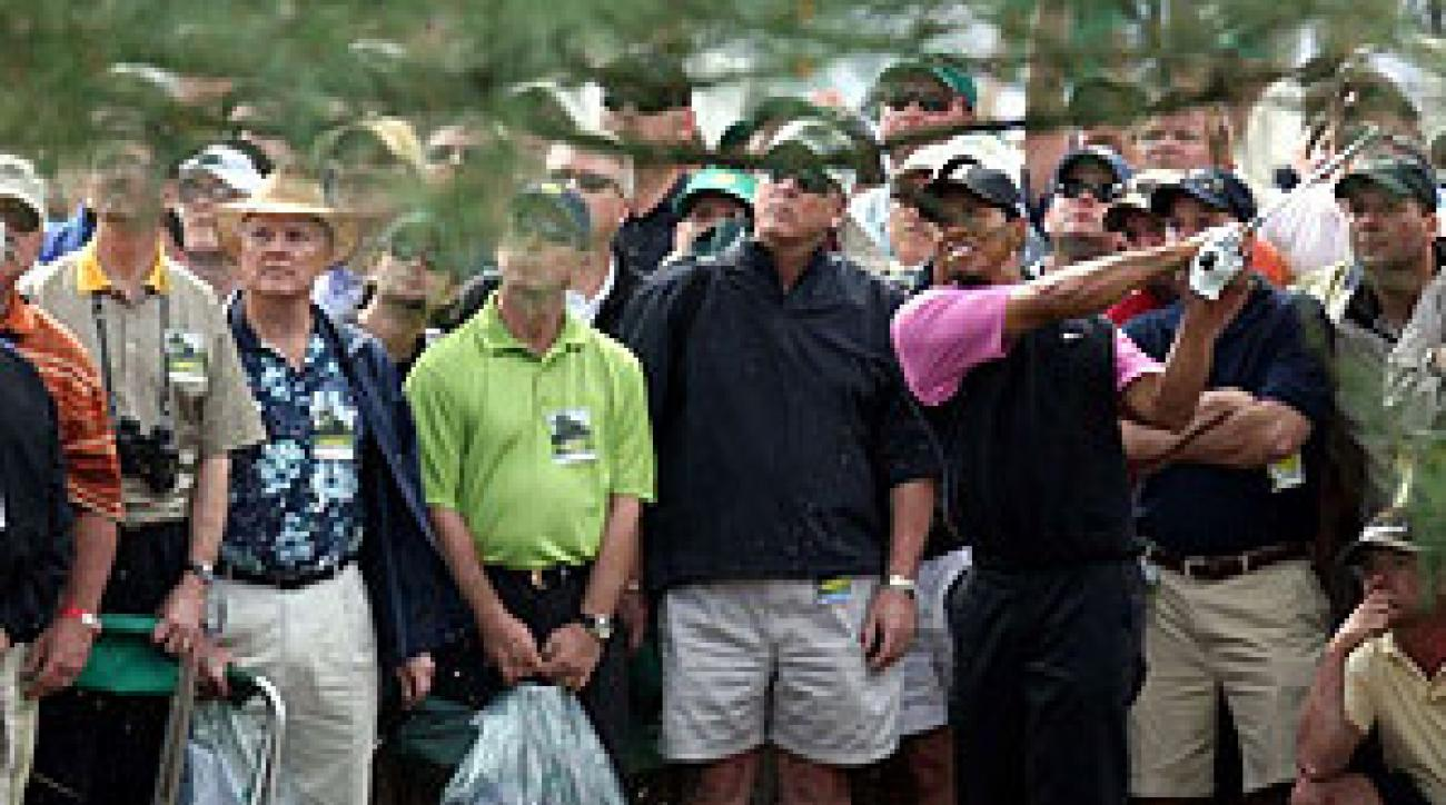 A decade after what was supposed to be a breakthrough win, Woods was silent on and off the course.