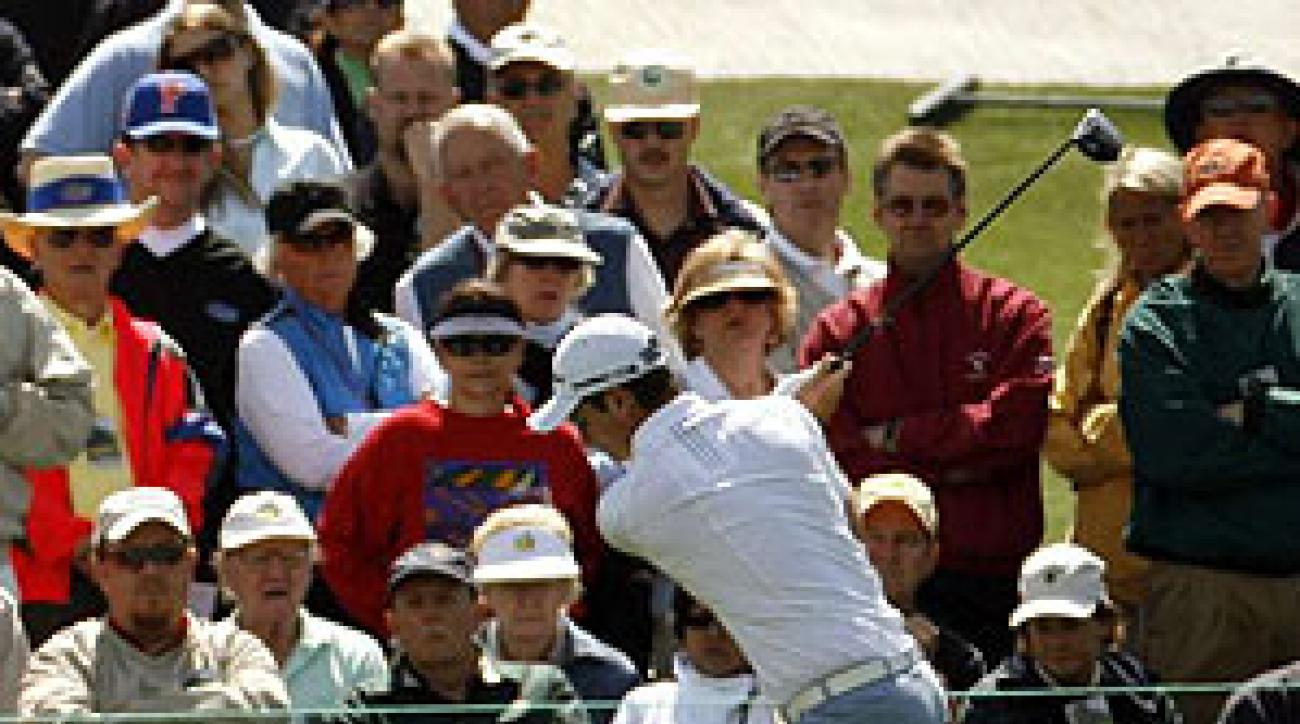 Justin Rose (above) is tied for the lead with Brett Wetterich.