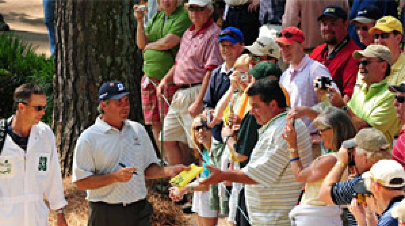 Fred Couples is not likely to be signing autographs on the weekend.
