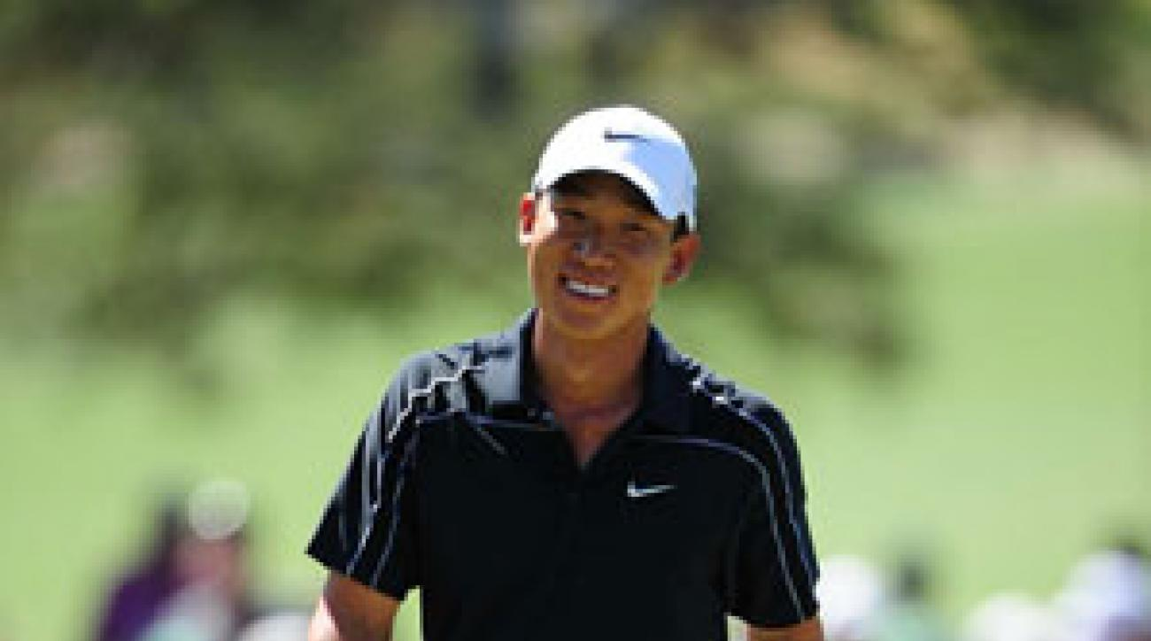 Anthony Kim shot a final-round 65 to finish third.