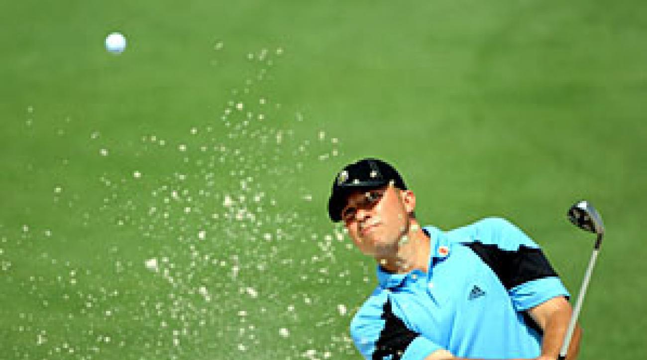 Kuehne, who eagled the par-5 13th hole, finished at six over par.