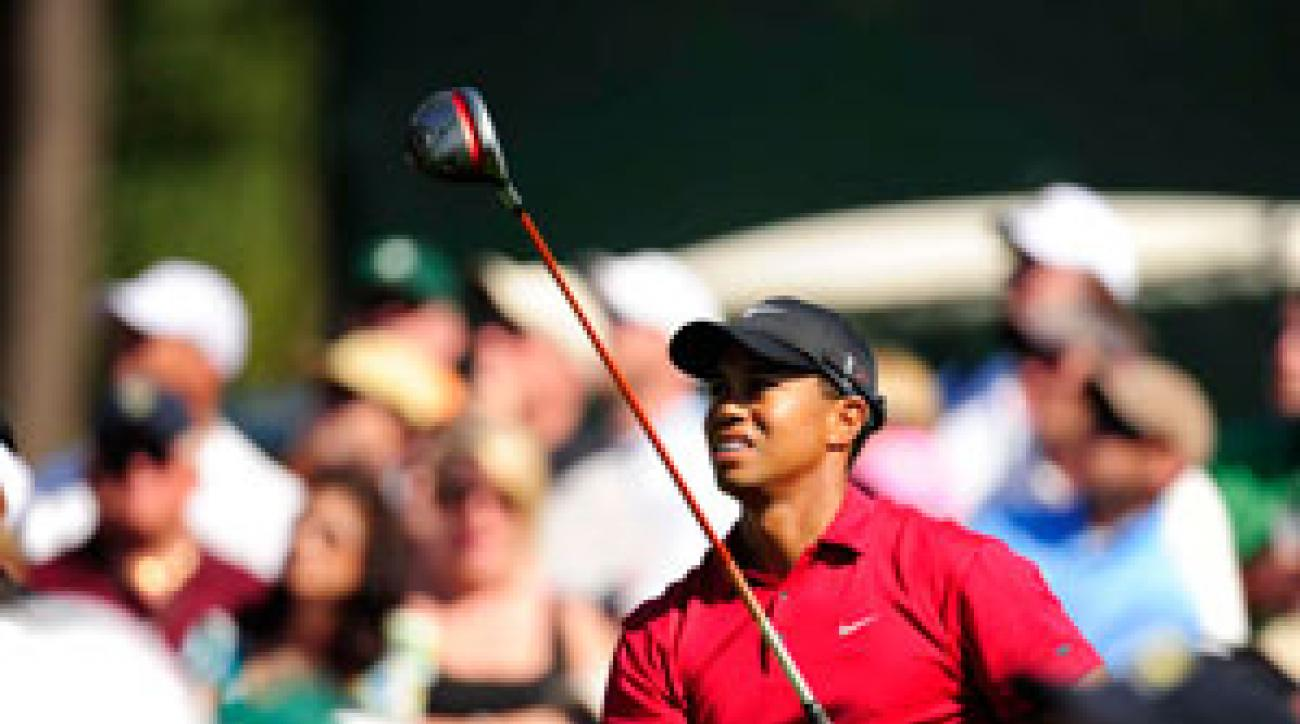 Tiger Woods made two eagles, four birdies and five bogeys on Sunday.