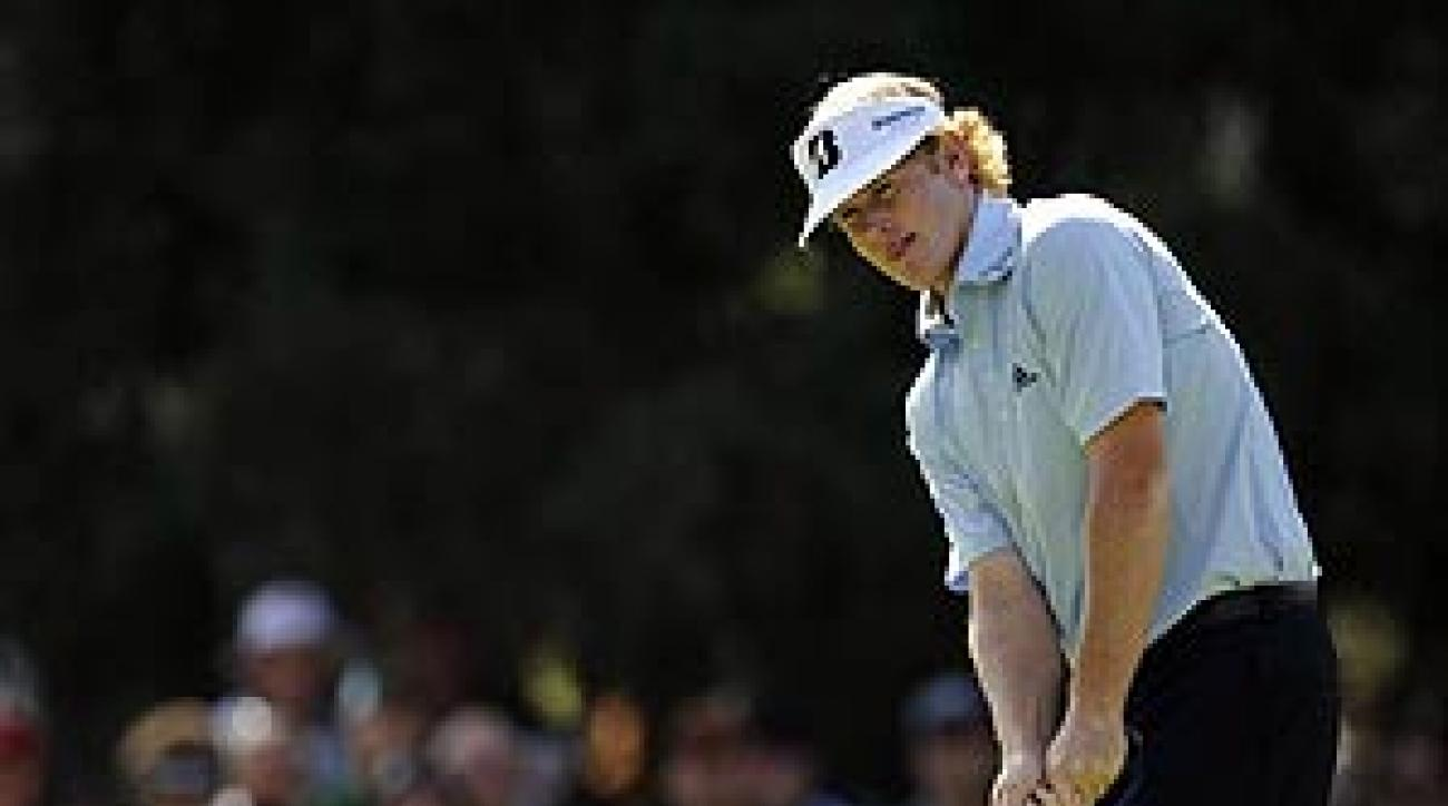 Snedeker pulled out a wedge and chipped it over the ridge on the sixth green.
