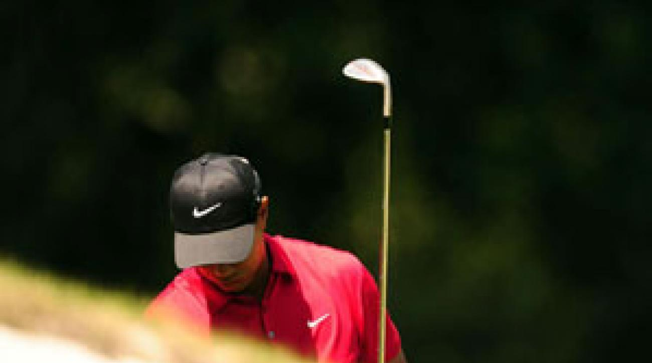Woods played the par-5s in a record 15 under (Mickelson went 12 under) but was four over on the par-3s.