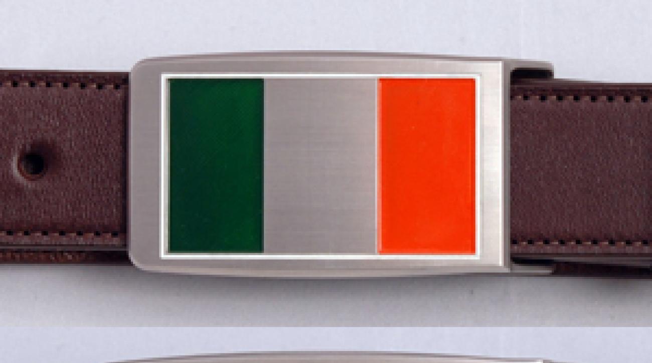 Many of Bob Bettinardi's belt buckles are worn by PGA Tour players.