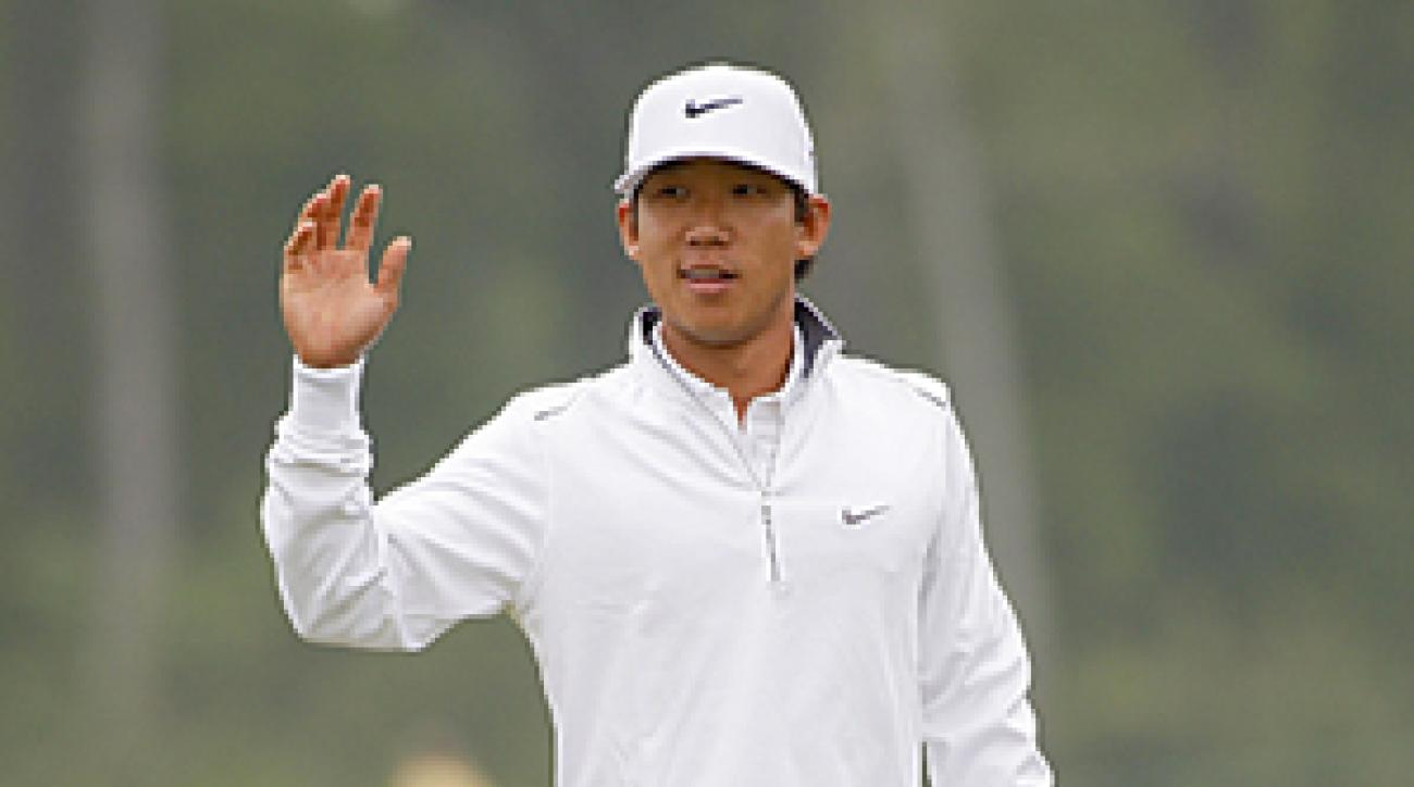 <p>Anthony Kim needed only 22 putts on Friday.</p>