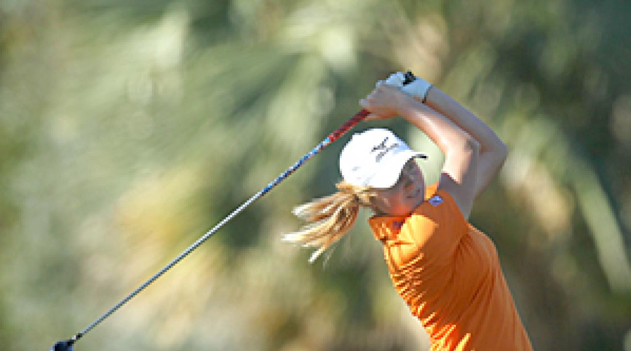 Stacy Lewis made four birdies and one bogey on Friday.