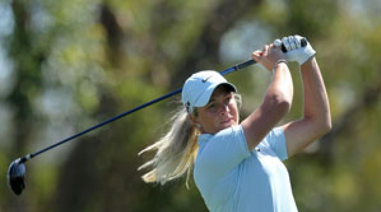 Suzann Pettersen made five birdies and no bogeys on Thursday.