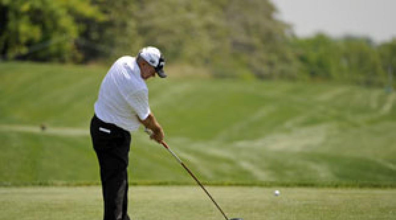 Ken Green is playing in his first tournament since losing his leg in a car accident last year.