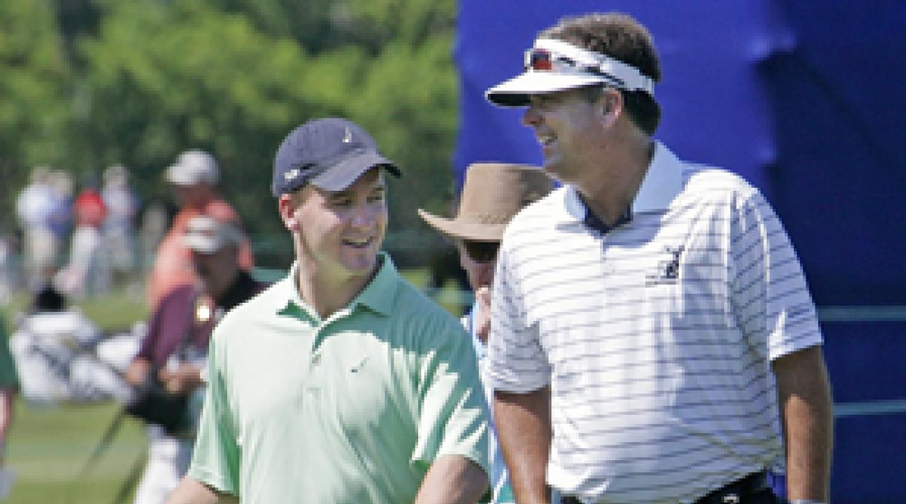 Kenny Perry played in the pro-am with Indianapolis Colts quarterback Peyton Manning.