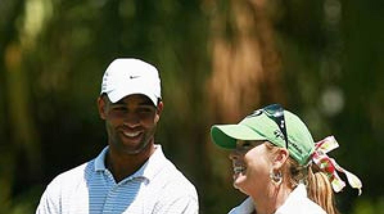 Tennis star James Blake was paired with Paula Creamer.