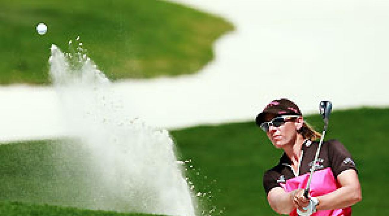 Annika Sorenstam opened her round with three straight birdies, and she finished one shot off the lead.