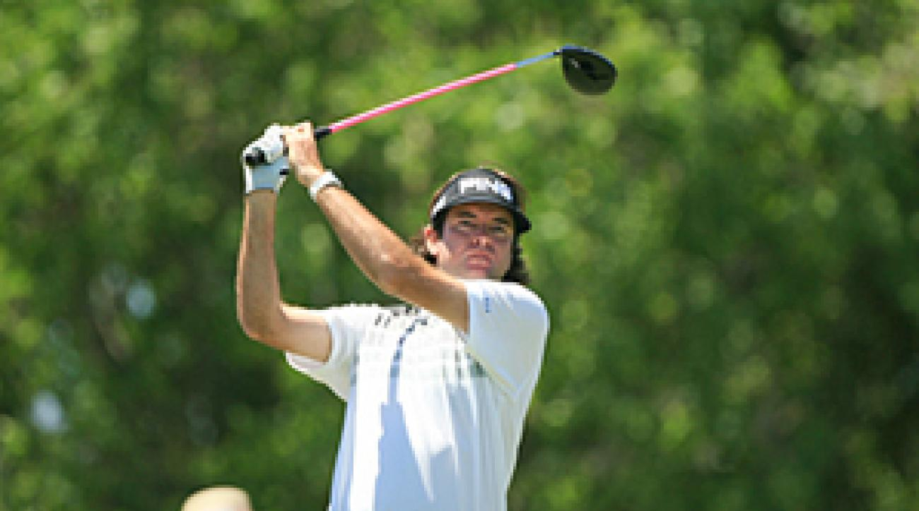 Bubba Watson made three birdies, an eagle and a bogey on Friday.