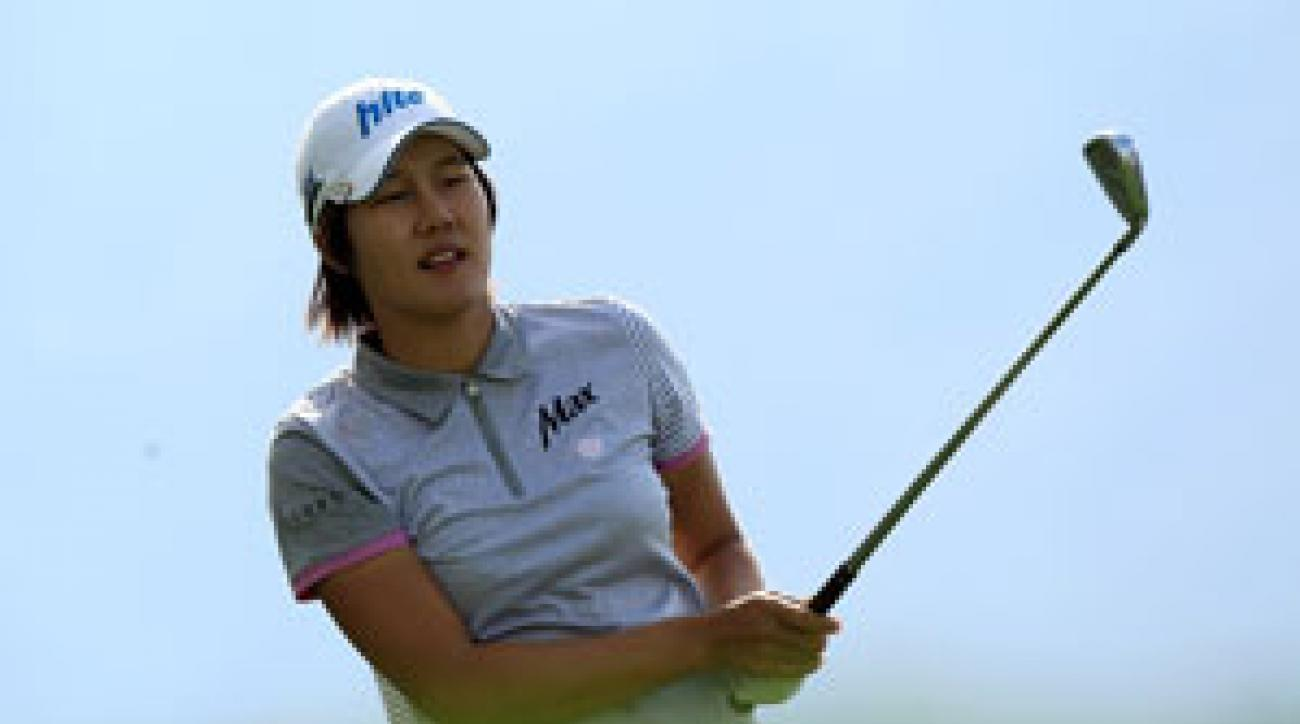 Song-Hee Kim shot a bogey-free 68 on Friday.