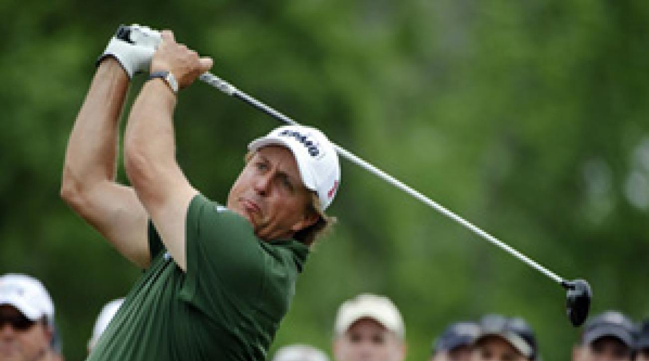 Phil Mickelson made nine birdies and no bogeys on Saturday.