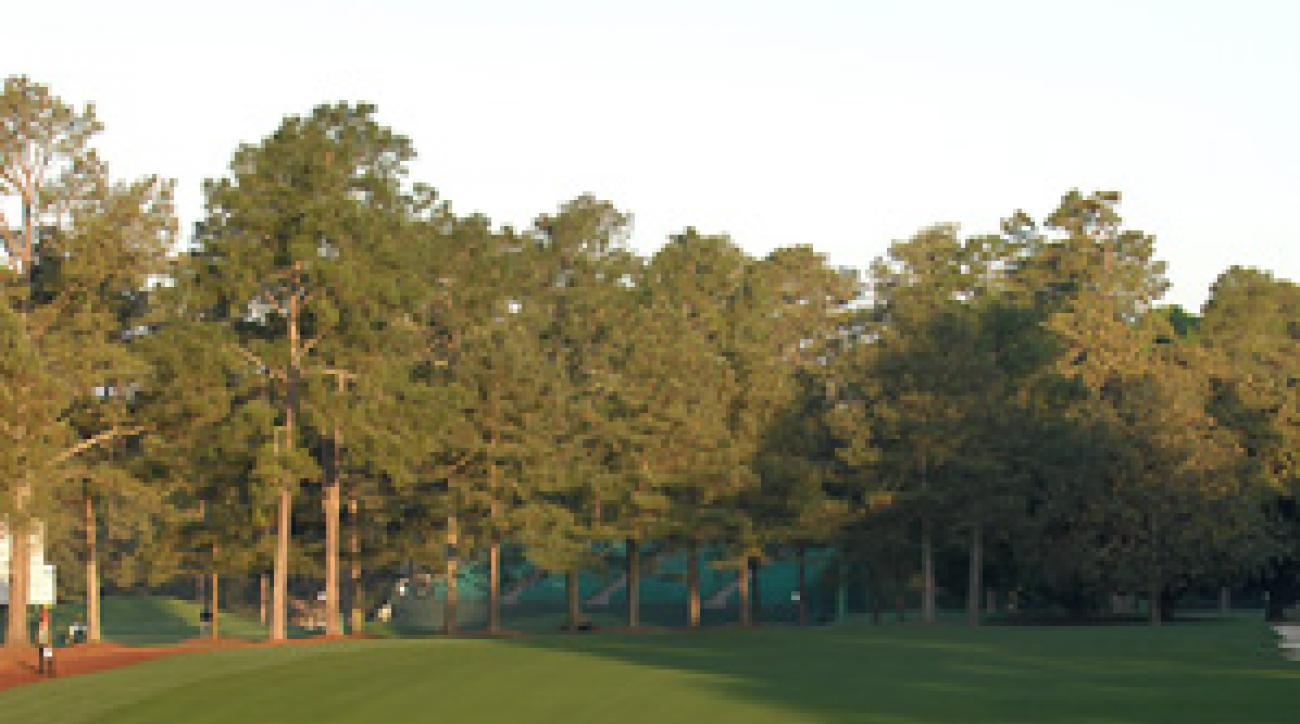 Tiger Woods gets some early practice in on Sunday at Augusta National.