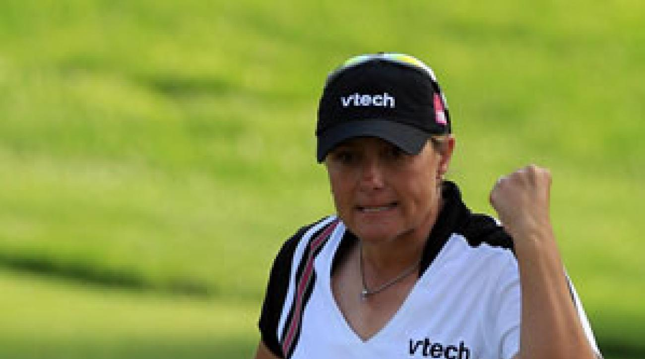 Karen Stupples made six birdies and two bogeys on Saturday.