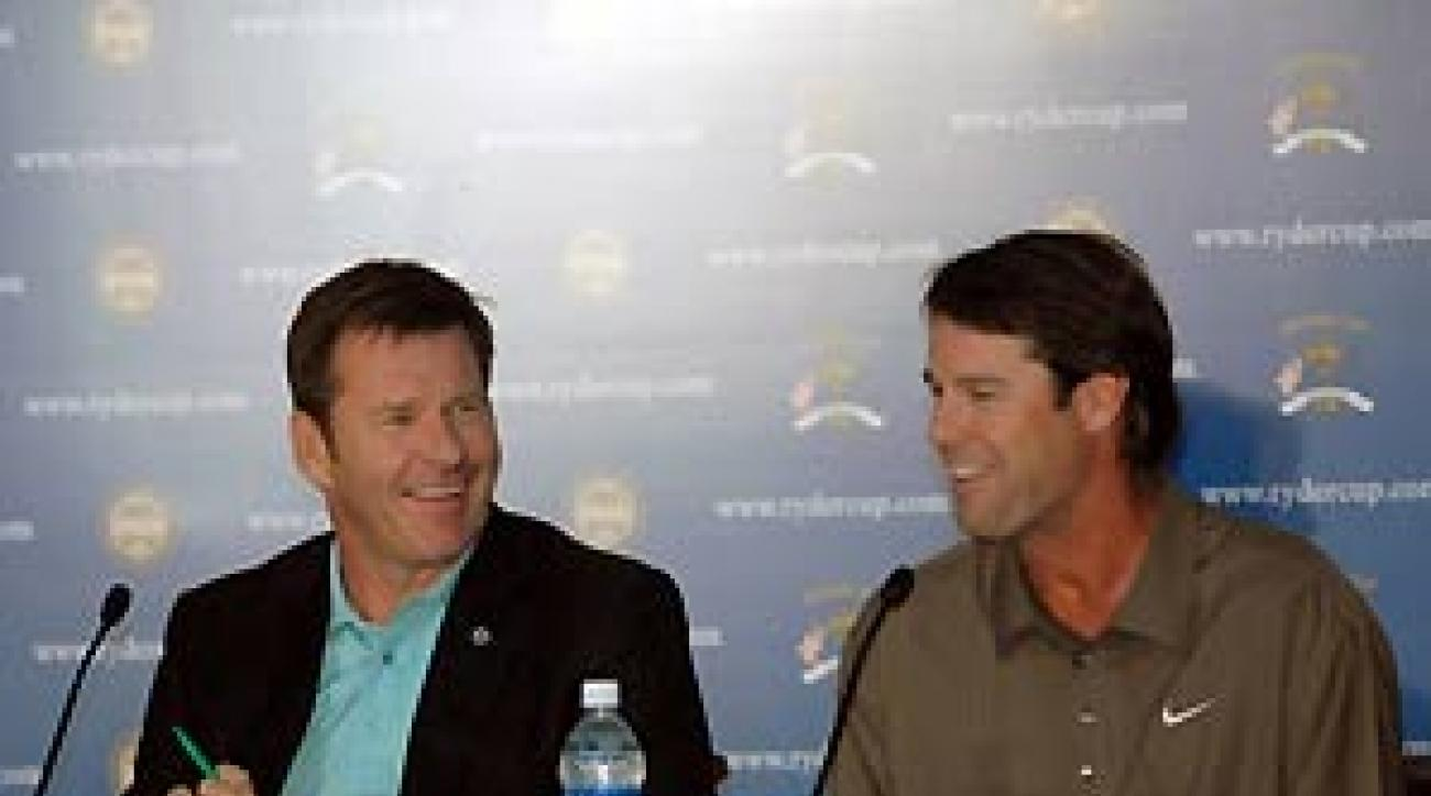 """""""Nick and I are friends now and will remain friends long                 after the matches are over,"""" said Azinger."""
