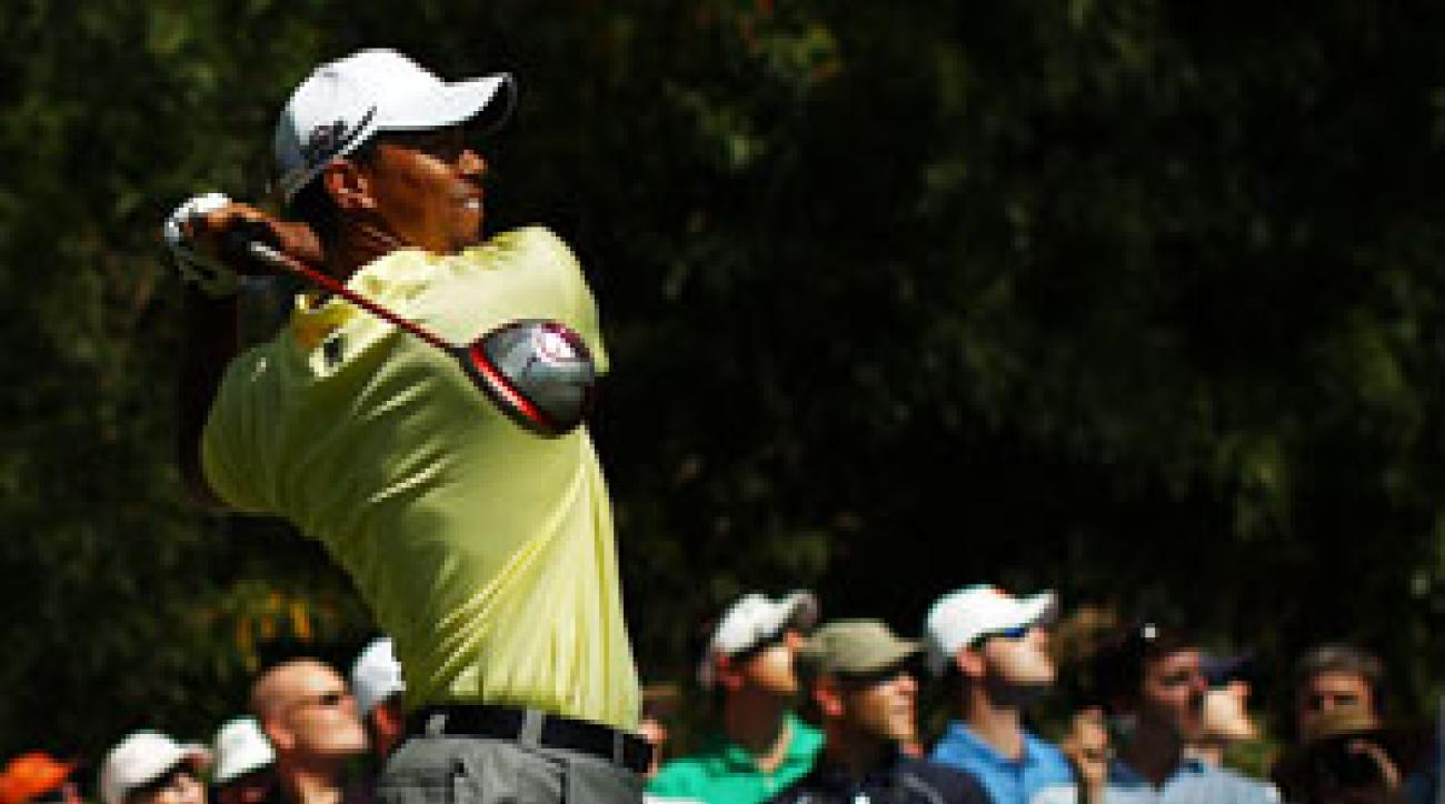 Tiger Woods has the next-to-last tee time on Thursday.