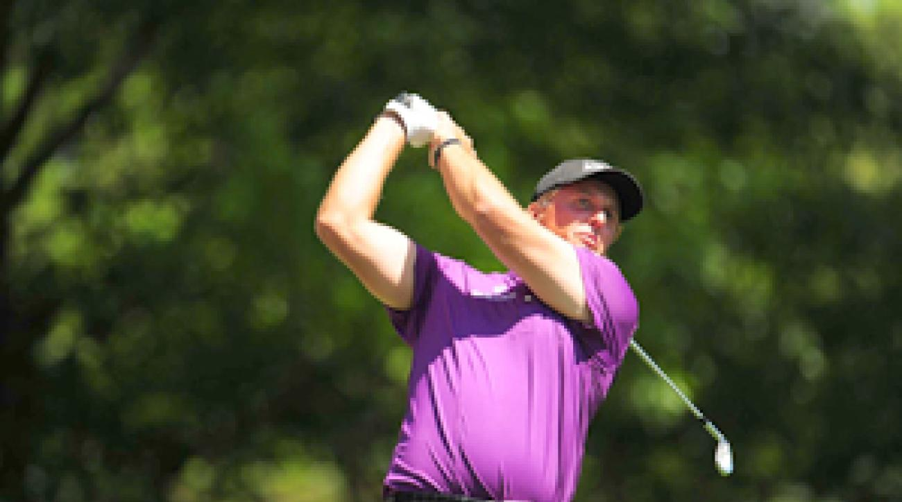Phil Mickelson made three birdies and one bogey in his opening round.