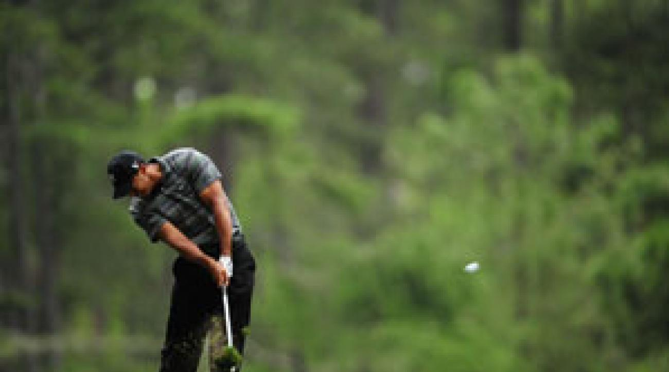 Tiger Woods shot the best first round of his Masters career on Thursday.