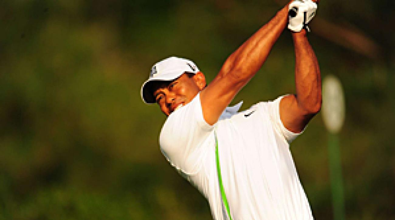 Tiger Woods shot a 5-under 31 on the back nine.