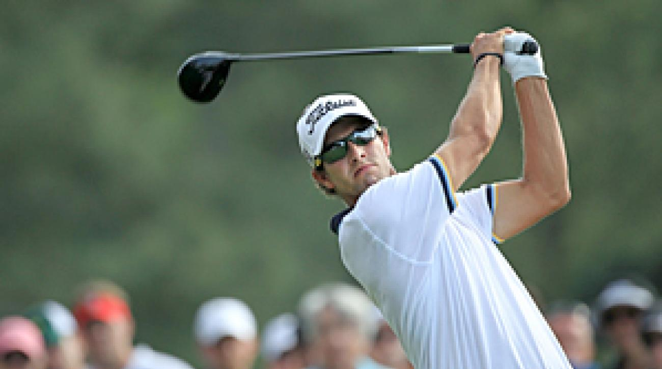 Adam Scott is five shots back after a 5-under 67.