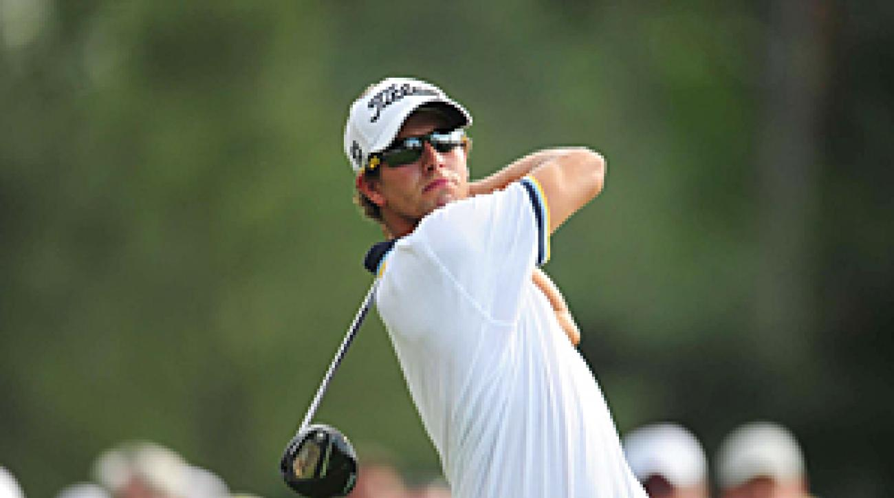 Adam Scott made an eagle, six birdies and three bogeys on Saturday.