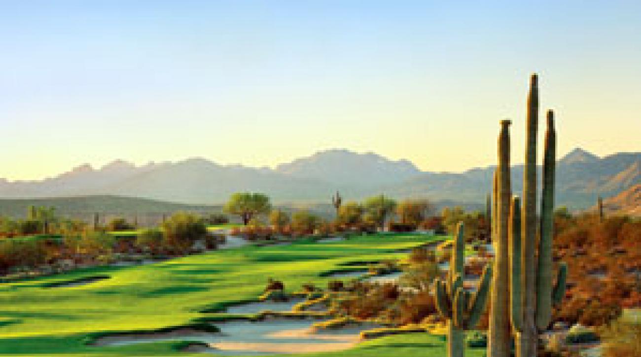The home hole on We-Ko-Pa's Saguaro Course.
