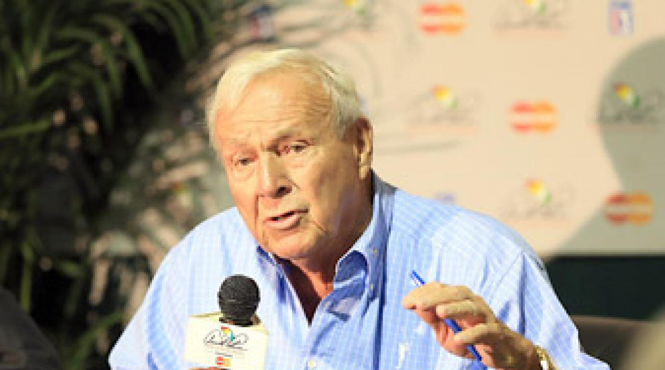 Arnold Palmer spoke to the media at Bay Hill on Wednesday prior to the start of the 2012 Arnold Palmer Invitational.
