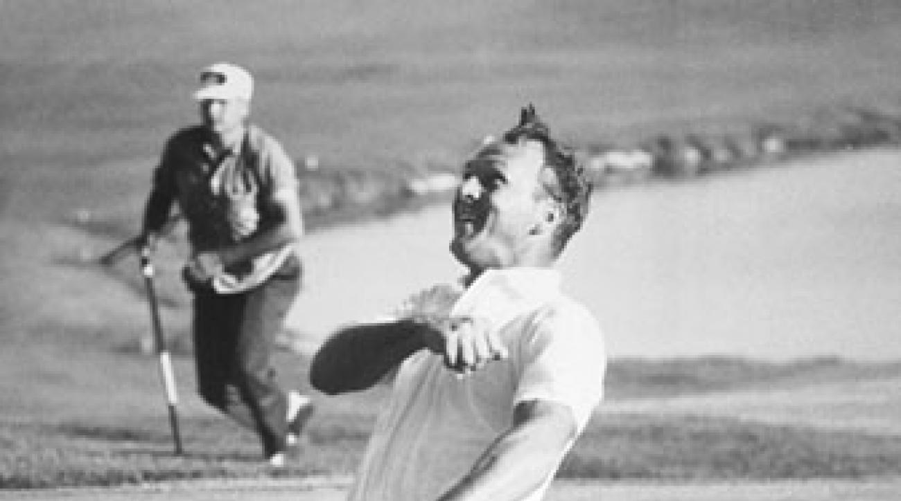 Arnold Palmer celebrates his win at the 1960 U.S. Open at Cherry Hills.