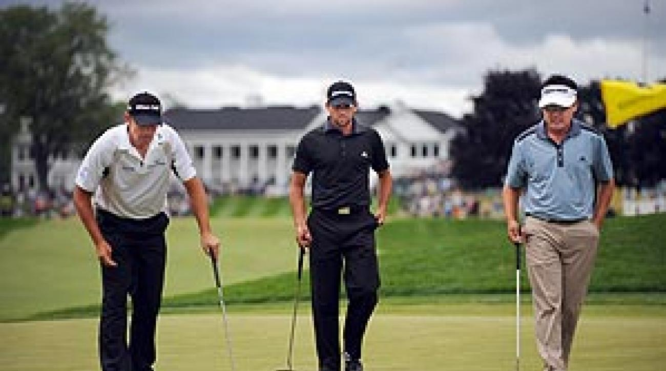 Harrington, Garcia and Wi and played even up, as professionals always do.