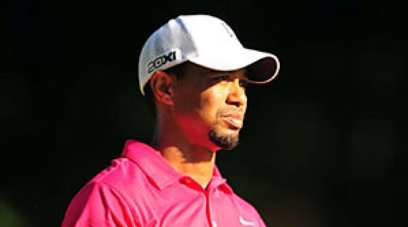 Tiger Woods made four birdies, five bogeys and three double bogeys.