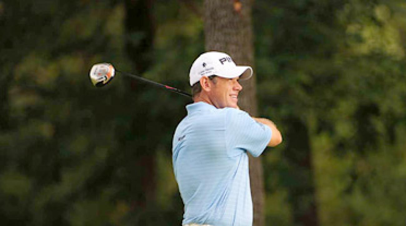 Lee Westwood had a solid round of two-under 68 to pull into contention.