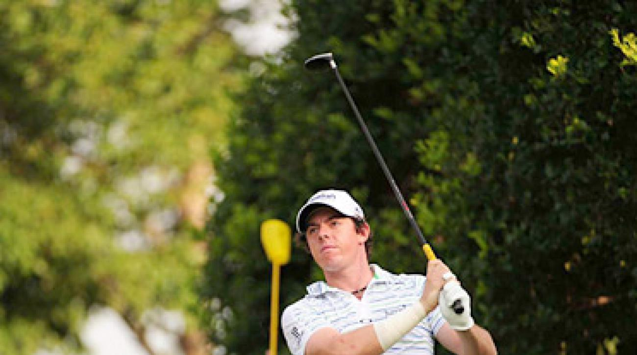 Rory McIlroy had three birdies on his way to a second-round 73.