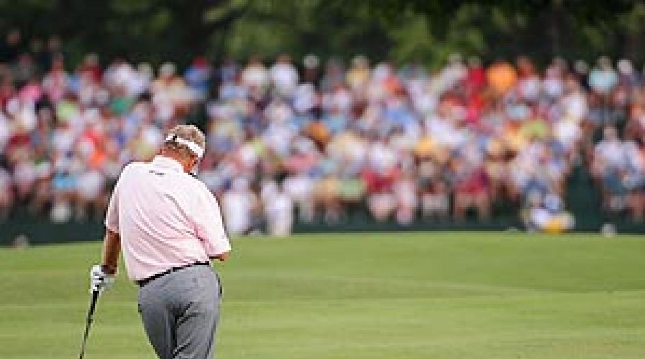 Montgomerie's 14-over 84 last Friday matched a career worst in majors.