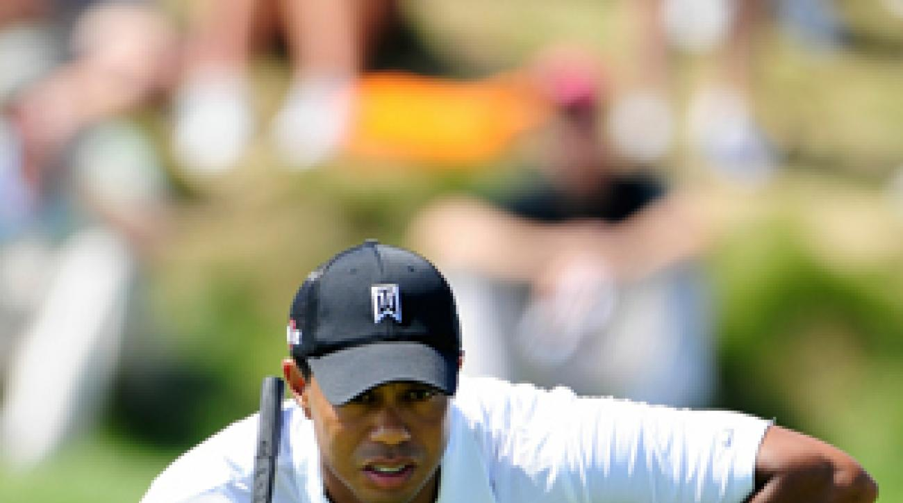 Tiger Woods made four birdies and three bogeys on Thursday.