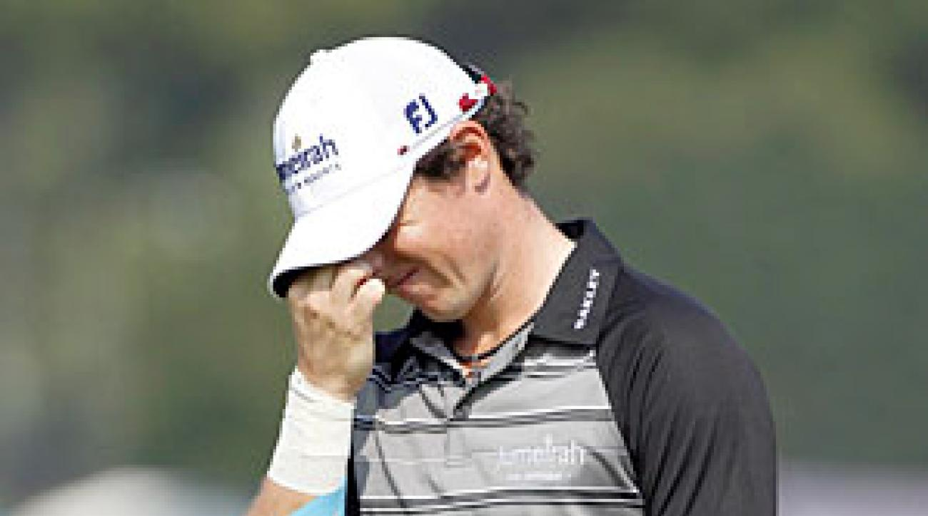 Rory McIlroy shot a 74 on Saturday.