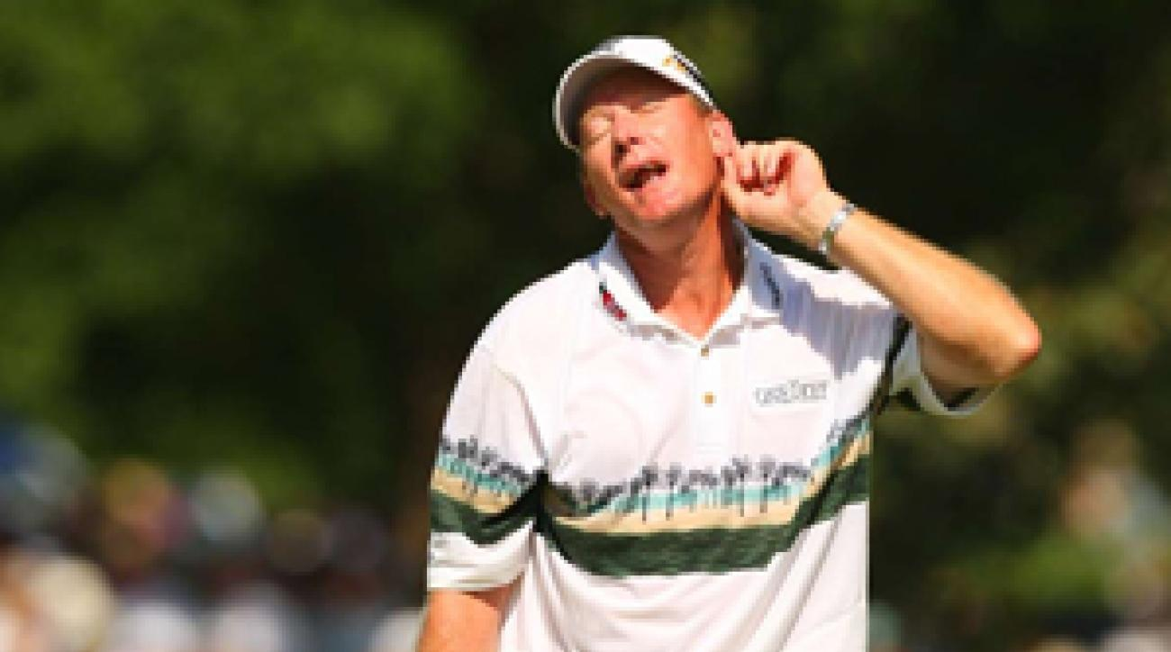 """Said U.S. captain Nicklaus about Austin, """"I don't know whether Woody will bring golf or bang himself in the head."""""""
