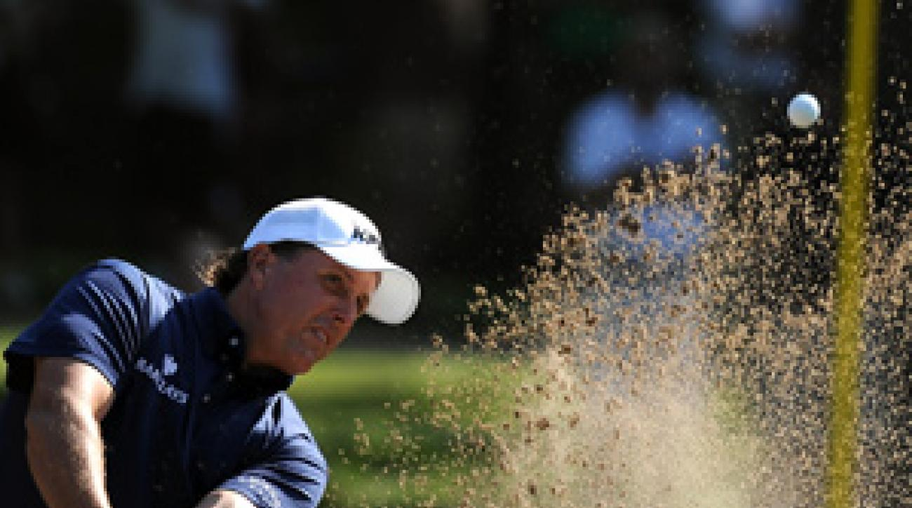 Mickelson made four bogeys, two birdies, an eagle and a double bogey on Friday.