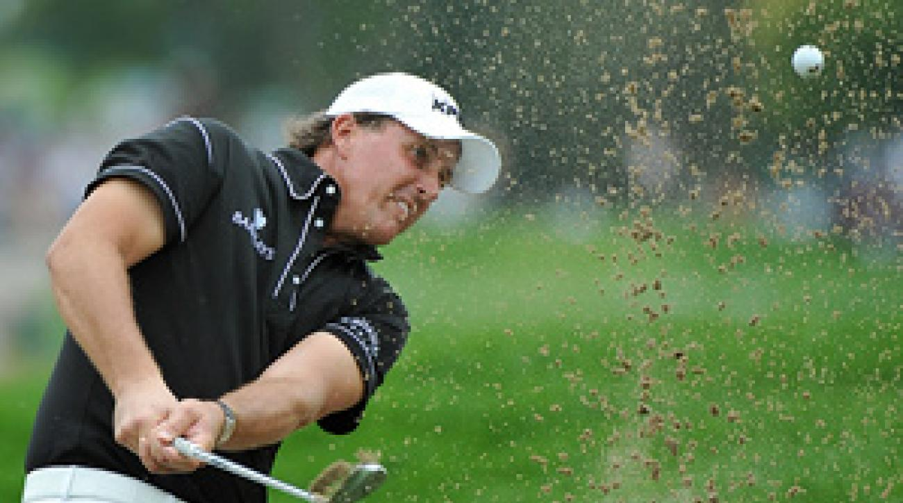 Phil Mickelson shot 76-76 on the weekend.