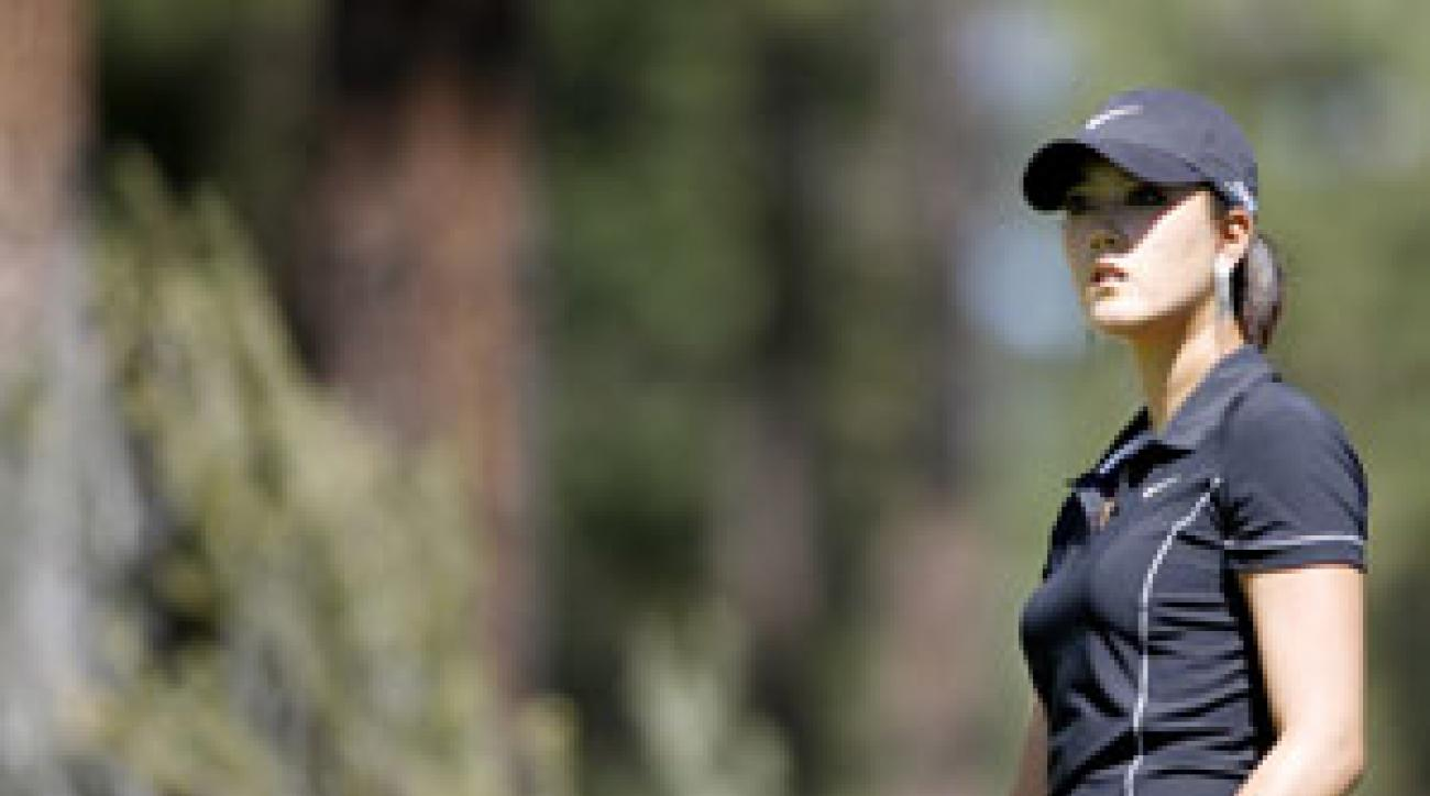Michelle Wie's round of 80 included a 9 on the par-4 eighth hole.