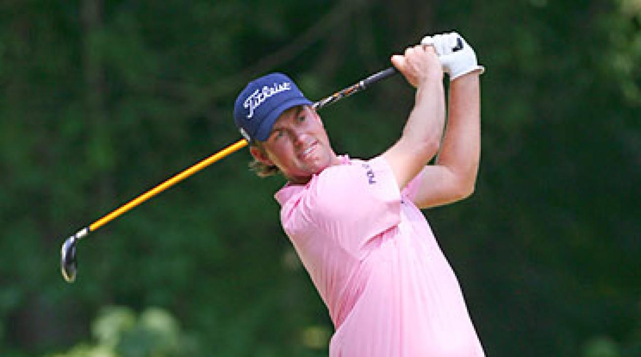 Webb Simpson shot a 29 on the back nine to move into the lead.