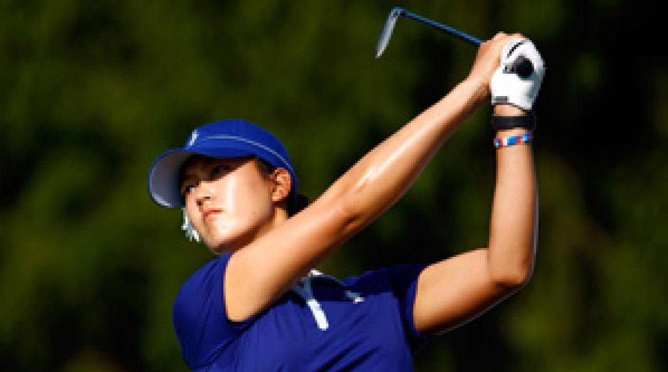 Michelle Wie is playing in her first Solheim Cup.